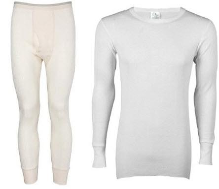 100 percent cotton long underwear for men
