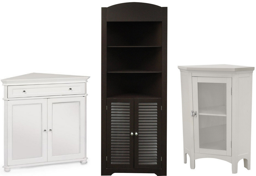Bathroom corner storage cabinets - B