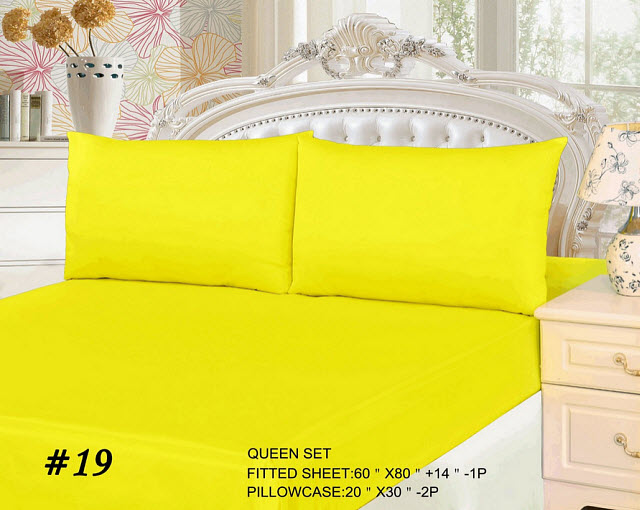 Bright yellow bed sheets - 2