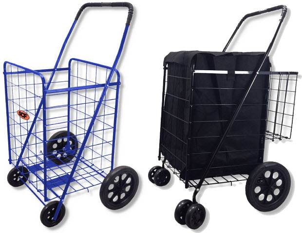 Collapsible laundry cart on wheels - b