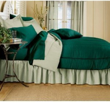 Dark green bedspread - c