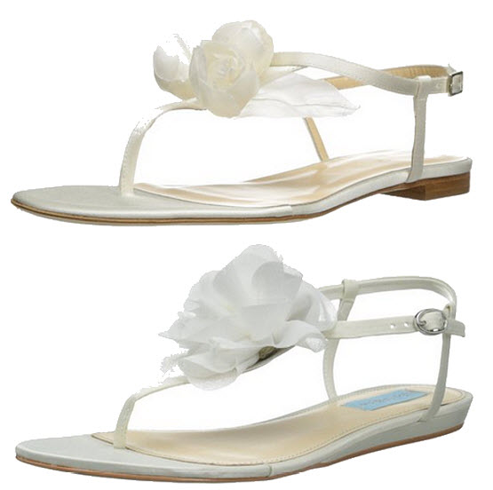 Dressy flat sandals for wedding - b2