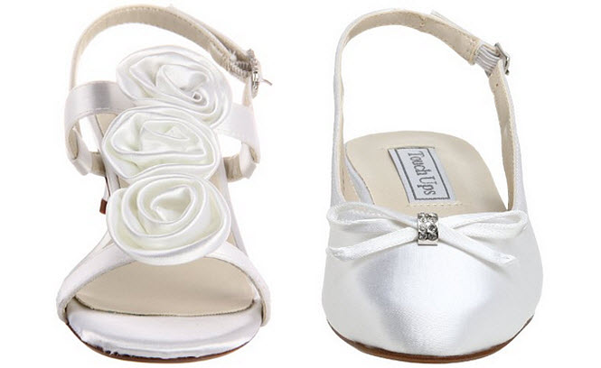 Dyeable flower girl shoes - B