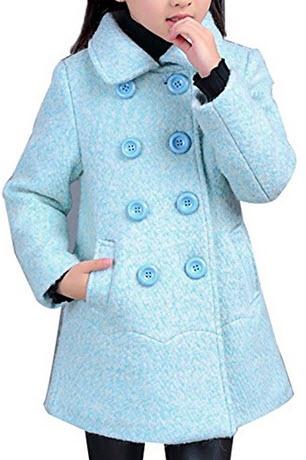 Light Blue Pea Coat Choozone