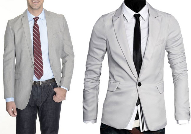 Light gray sport coat - b