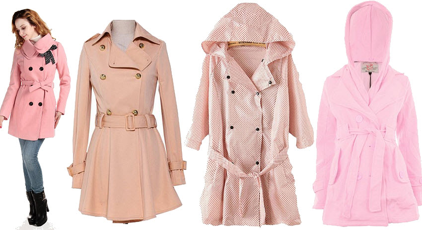 Light pink trench coat - B