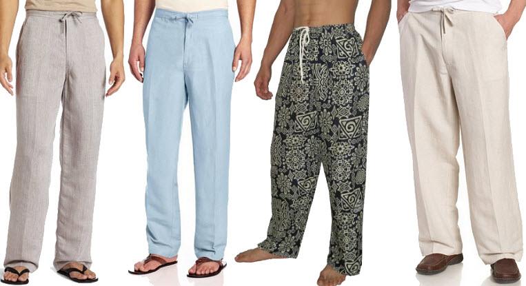 Mens drawstring beach pants - B