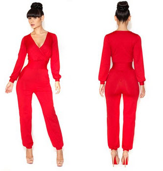 Red jumpsuits for women - c