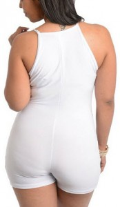White Jumpsuits for Women - Plus Size - C