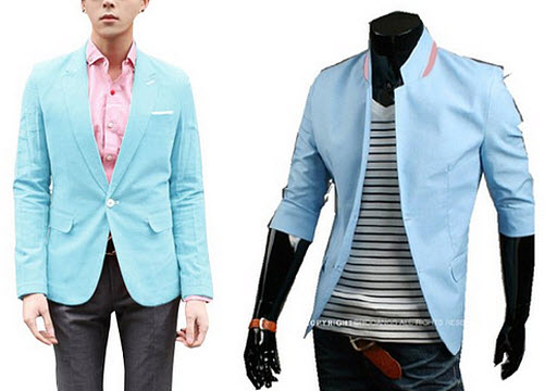 baby blue blazers for men