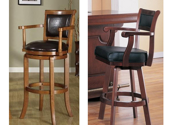 bar chairs with arms