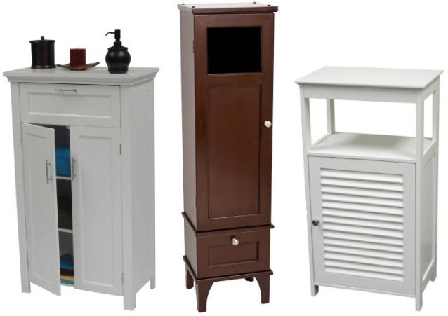 bathroom floor storage cabinets