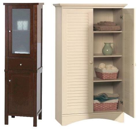 bathroom storage cabinets with doors