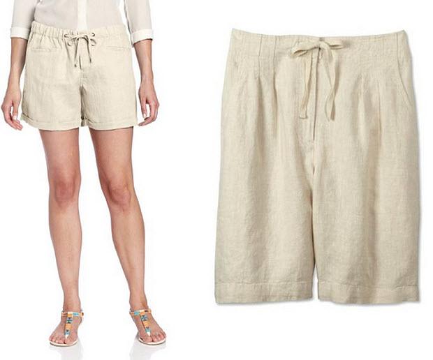 beach linen shorts for women