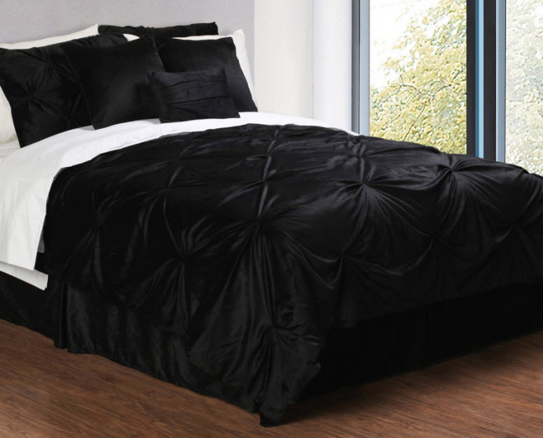 black bedding sets queen