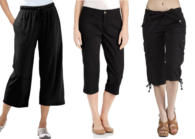 black capri pants for women