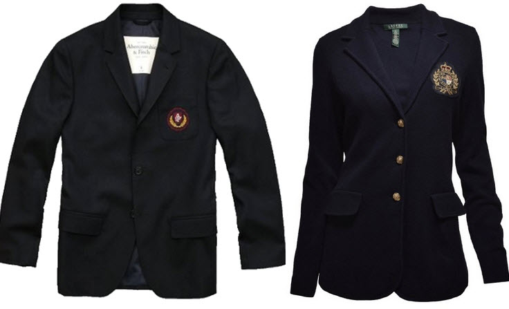 blazers with emblems