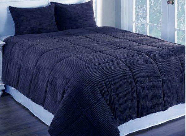 blue down alternative comforter