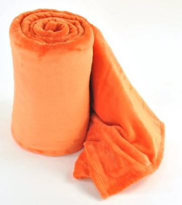 bright orange blanket