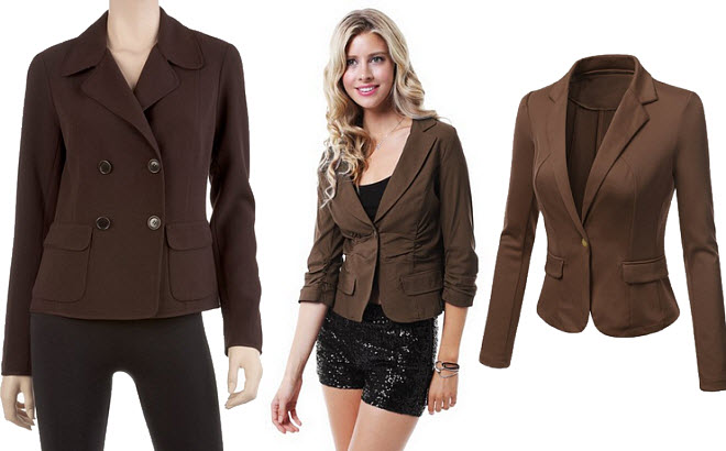 brown blazers for women
