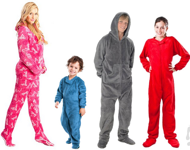 chenille footed pajamas
