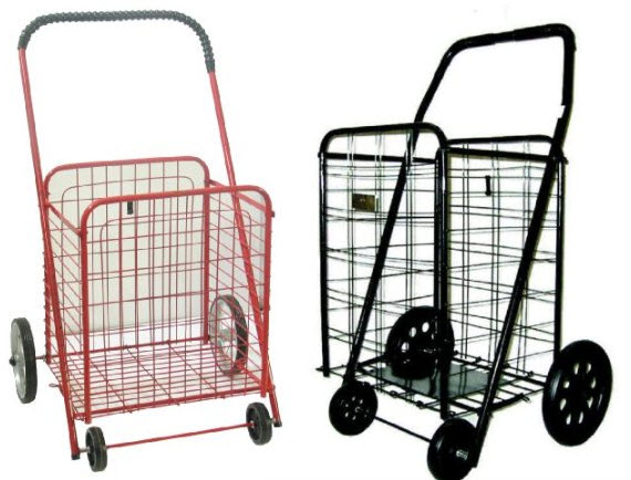 collapsible laundry cart on wheels