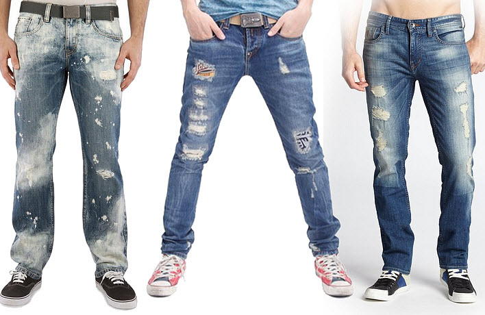 cut up jeans for men