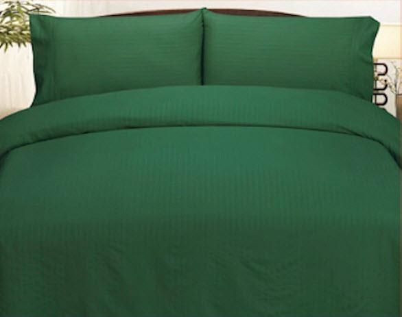 dark green bed sheets