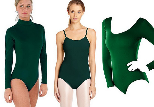 dark green leotard