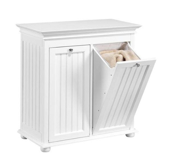 double hamper cabinet