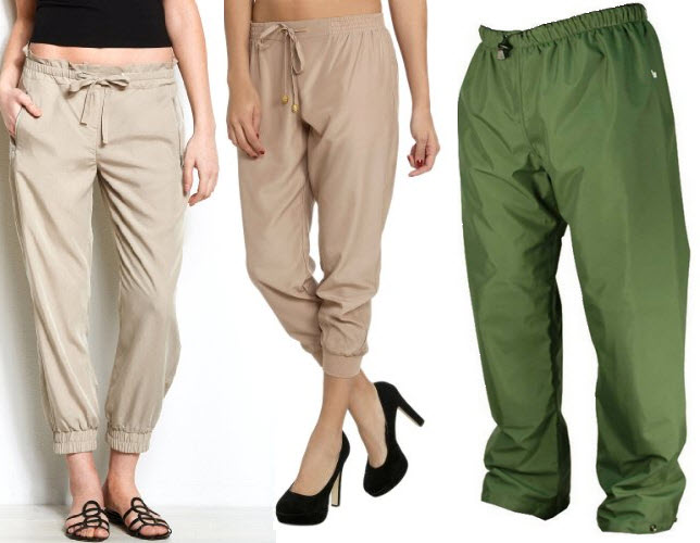 drawstring ankle pants