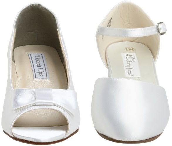 dyeable flower girl shoes