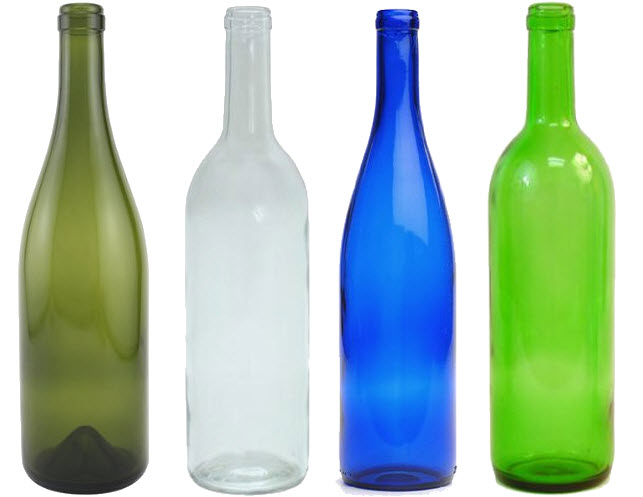 empty glass wine bottles