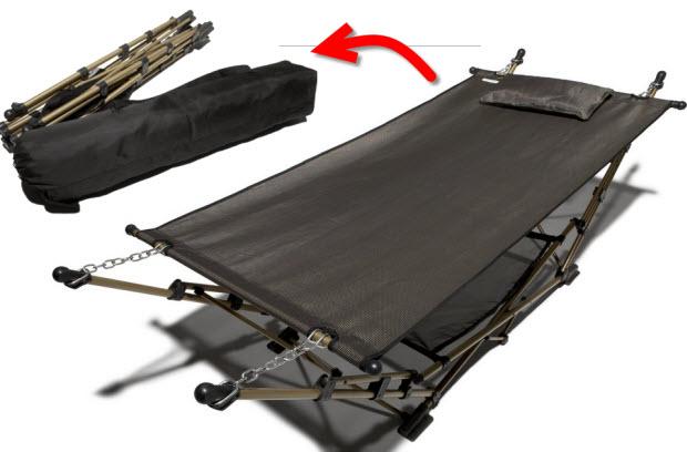 folding camping hammock