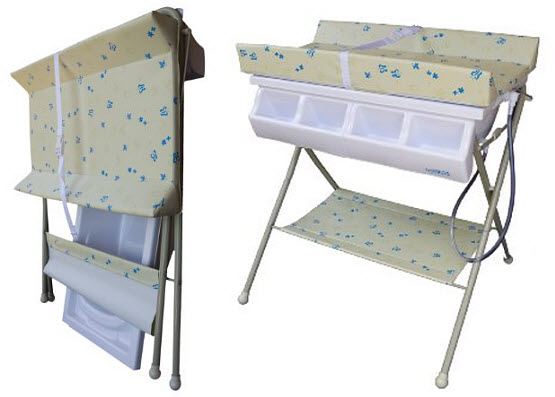 folding changing table
