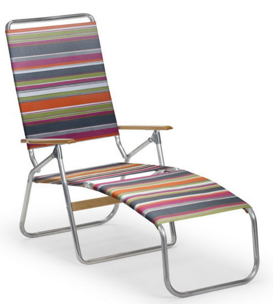 folding patio lounge chair - 1