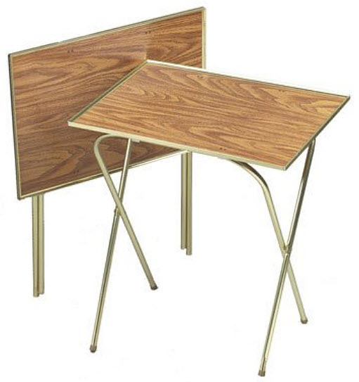 folding snack table