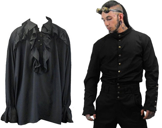 gothic shirts for men