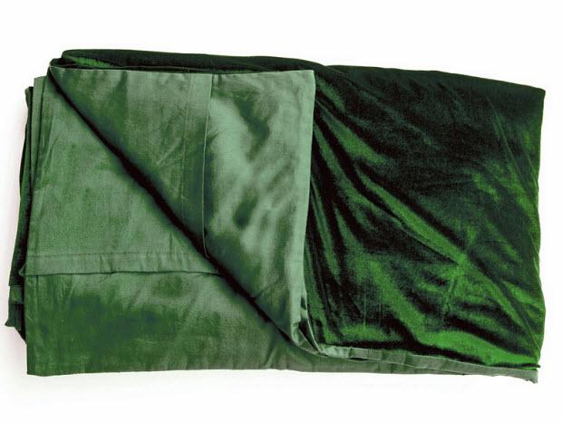 green velvet bedspread - 2