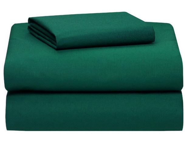 hunter green bed sheets