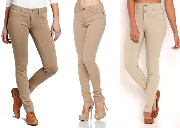 khaki jeggings for juniors