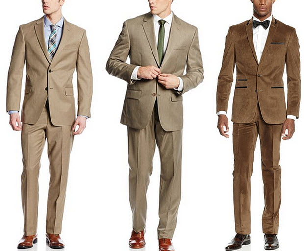 light brown suits for men