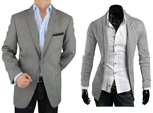 light gray sport coat