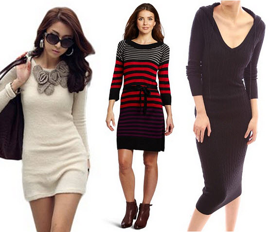 long sweater dresses for women