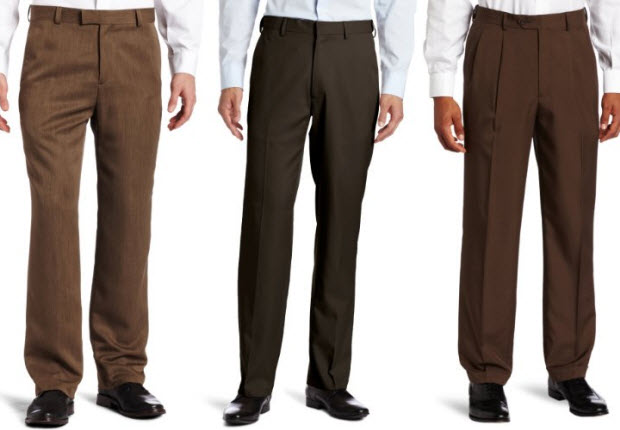 mens brown dress pants