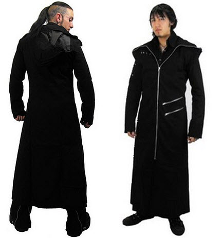 mens gothic trench coats