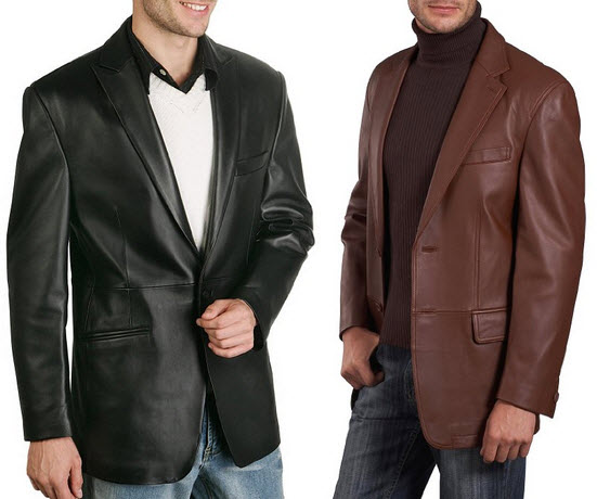 mens leather sport coat
