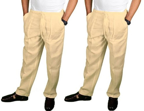 mens linen beach pants