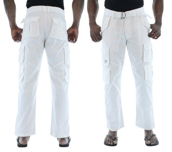 mens white beach pants