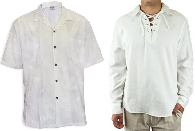 mens white beach shirt